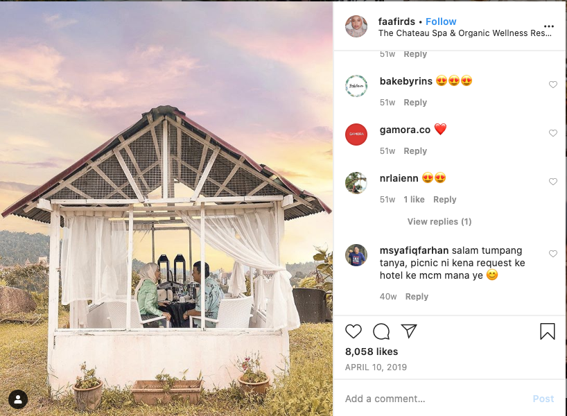 The Chateau Influencer Content Marketing