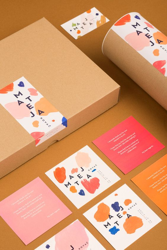 muted colour branding