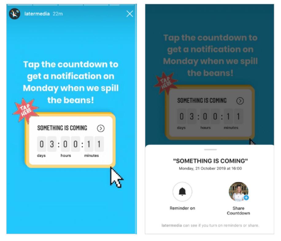 Countdown Instagram Sticker