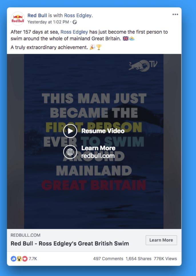 Red Bull Facebook Video