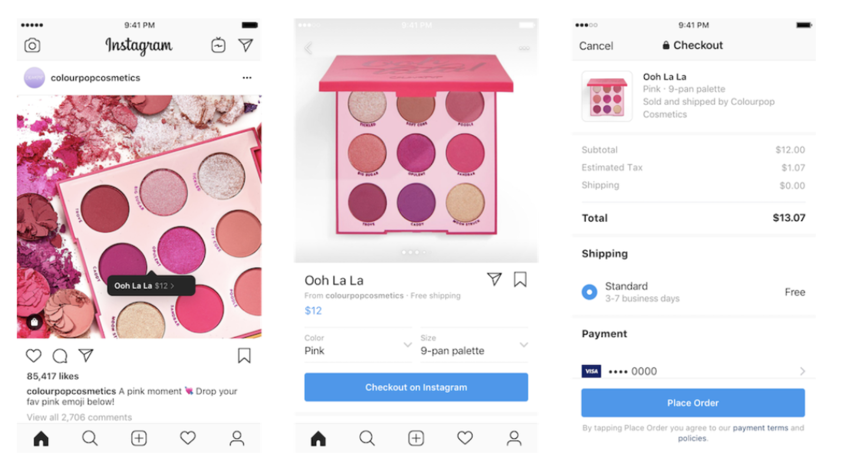 Colourpopcosmetic Instagram Checkout