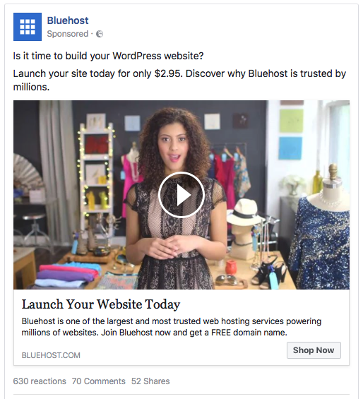 Example of Facebook Ads
