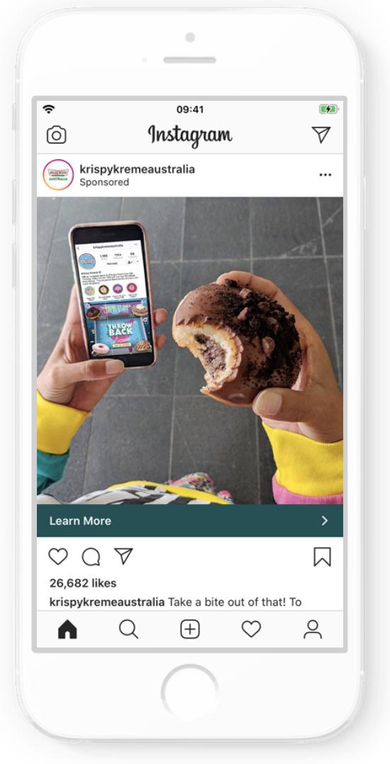 Krispy Kreme Australia Instagram Ad