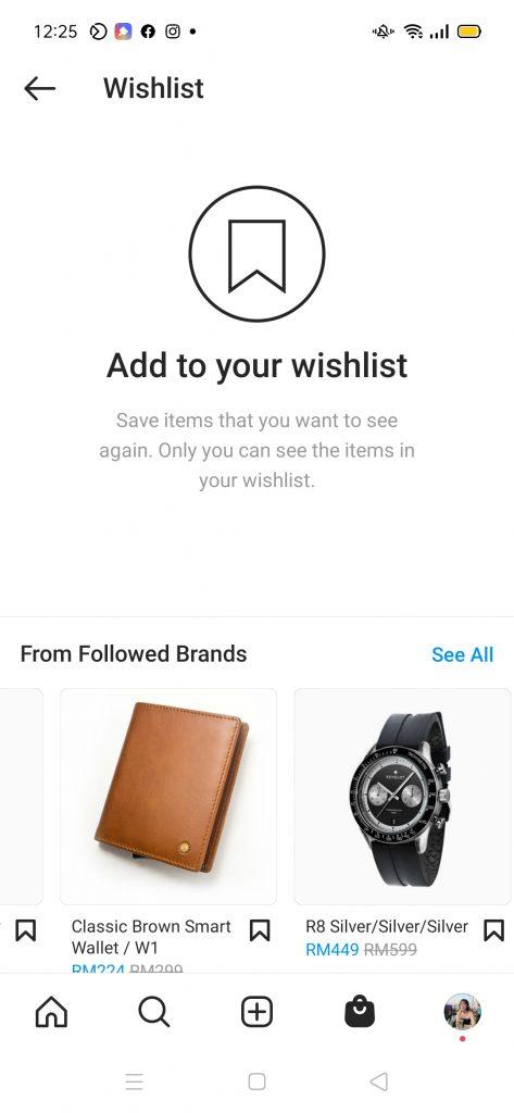 Instagram Wishlist