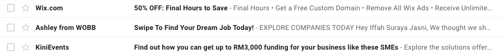 subject lines are almost everything in email marketing.
