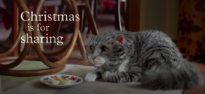 Sainsbury's cat commercial for Christmas